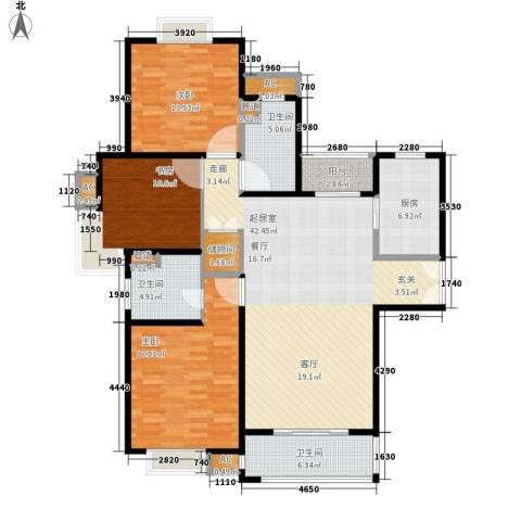 建邦16区3室0厅3卫1厨130.00㎡户型图