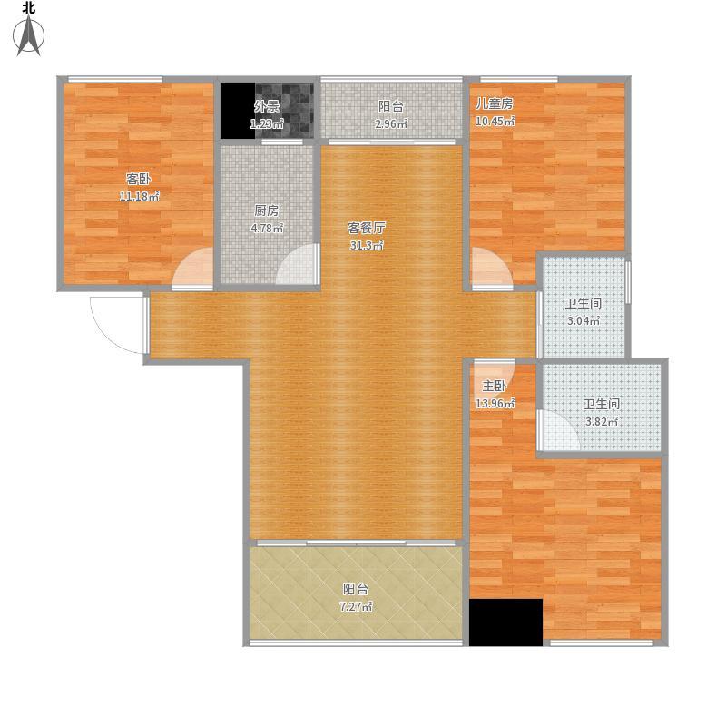 翡翠城D-4三室两厅两卫