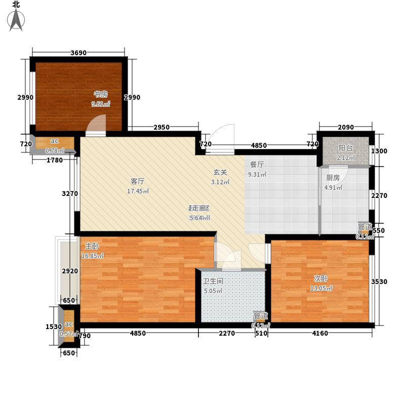 中国城建伦敦公元102.00㎡G7户型3室2厅