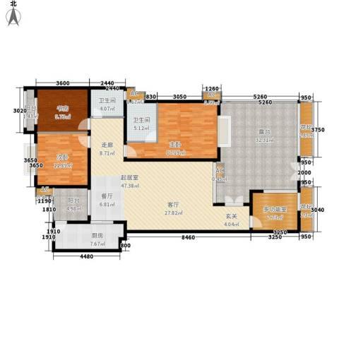 中天阳光美地3室0厅2卫1厨156.79㎡户型图
