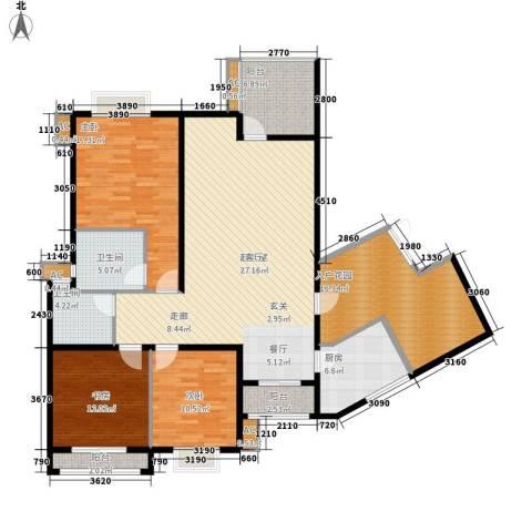 中天阳光美地3室0厅2卫1厨129.75㎡户型图