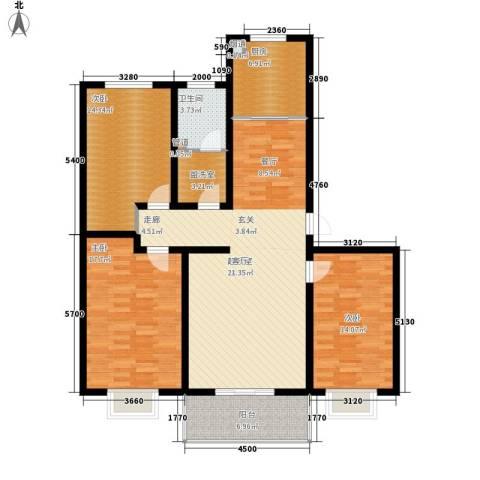 芳华怡园3室0厅1卫1厨119.00㎡户型图