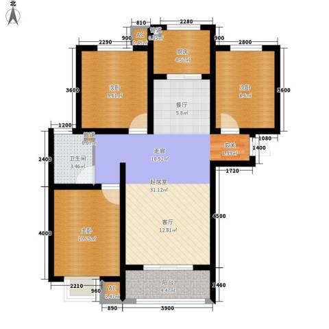 紫苑3室0厅1卫1厨108.00㎡户型图