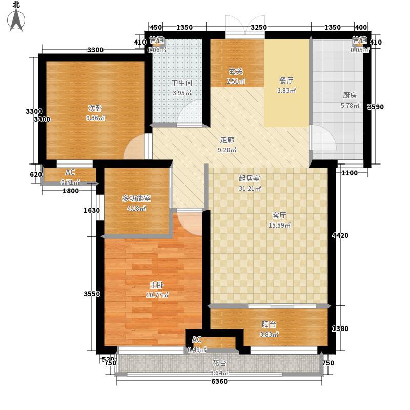 想象国际103.02㎡X户型2室2厅