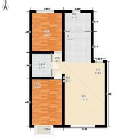富城家园2室0厅1卫1厨98.00㎡户型图