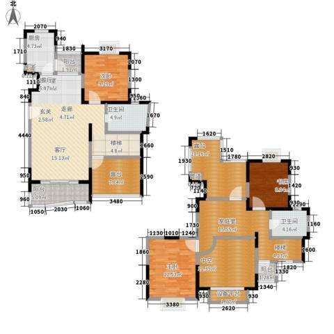 蔚蓝城市花园3室0厅2卫1厨153.00㎡户型图