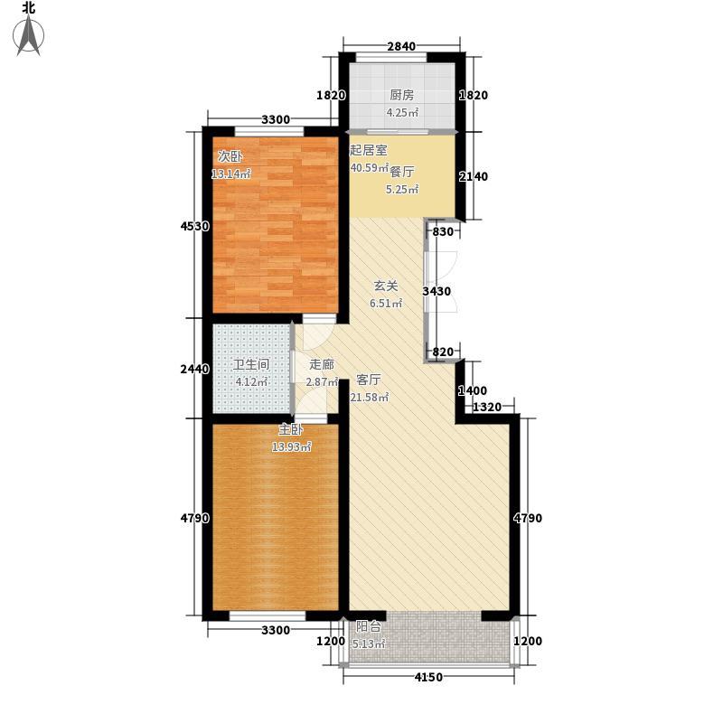 盛泰雅园105.00㎡盛泰雅园户型图C户型(4/6张)户型10室