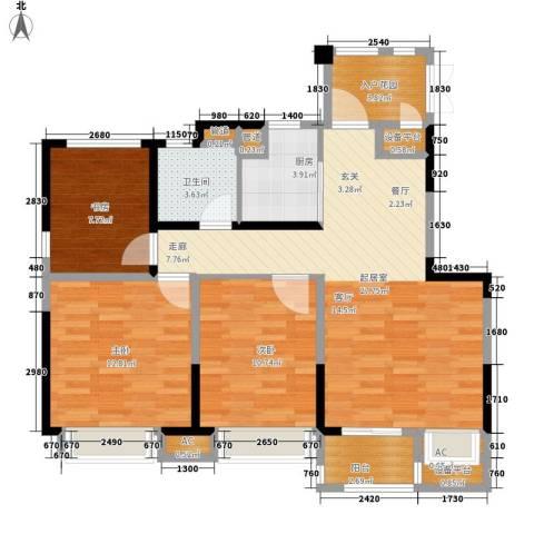 南山雨果3室0厅1卫1厨88.00㎡户型图