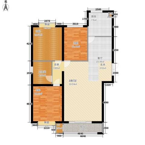 青熙境3室0厅1卫1厨125.00㎡户型图