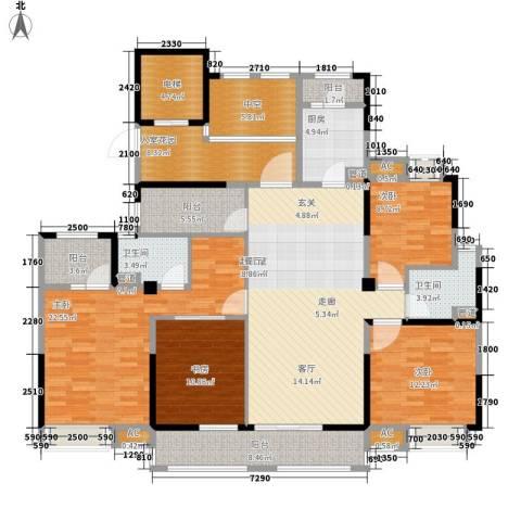 南山雨果4室0厅2卫1厨160.00㎡户型图