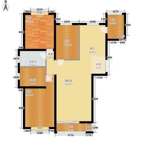 青熙境3室0厅2卫1厨136.00㎡户型图