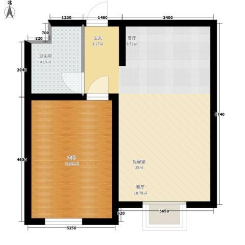 富城家园1室0厅1卫0厨60.00㎡户型图