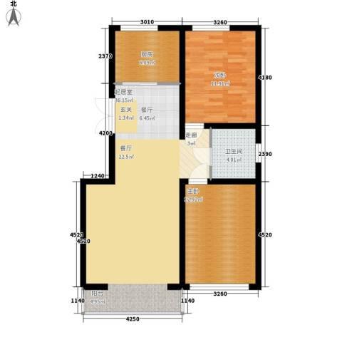 盛泰雅园2室0厅1卫1厨93.00㎡户型图