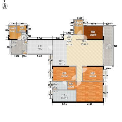 方圆月岛4室1厅4卫1厨260.00㎡户型图