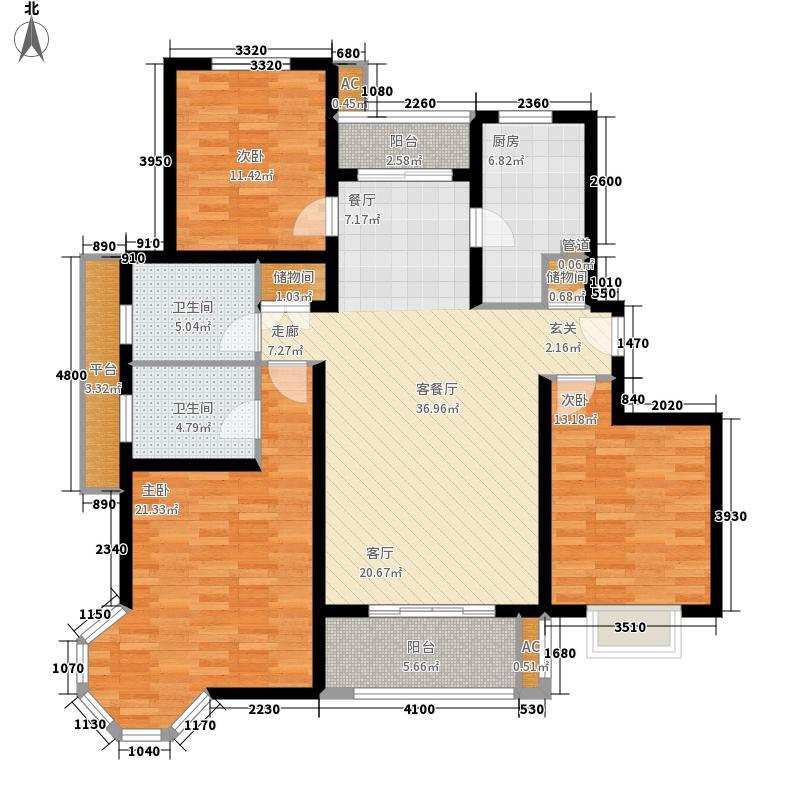 绿地崴廉公寓127.00㎡D2面积12700m户型