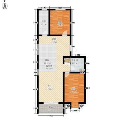 中阳信和水岸2室1厅1卫1厨103.00㎡户型图
