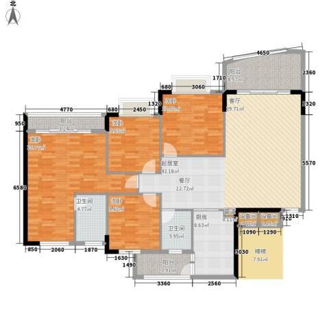 沁馥佳苑4室0厅2卫1厨150.00㎡户型图