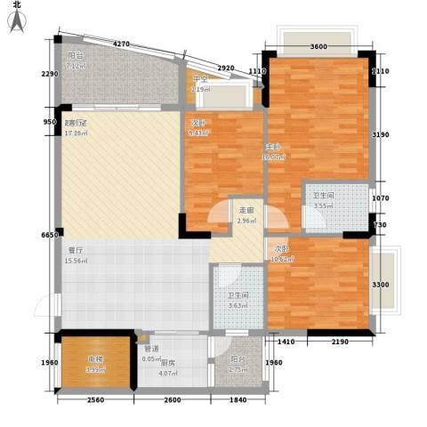 沁馥佳苑3室0厅2卫1厨118.00㎡户型图