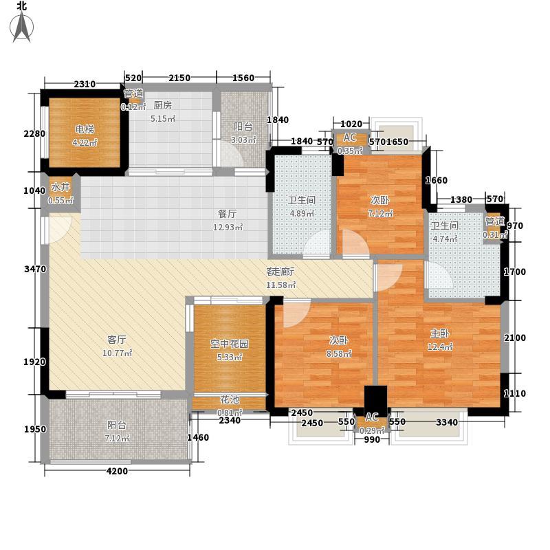 广州新塘新世界花园116.64㎡16栋3-16层2单元3室户型
