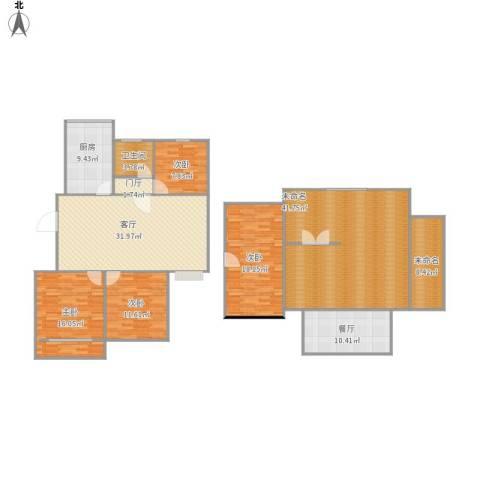 善景园4室2厅1卫1厨171.79㎡户型图