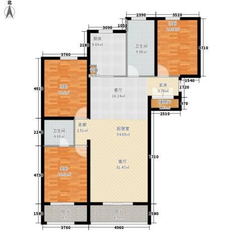 中阳信和水岸3室0厅2卫1厨156.00㎡户型图