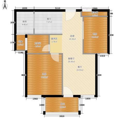 嘉悦景苑2室1厅1卫1厨89.00㎡户型图