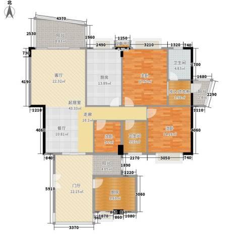 华南御景园3室0厅2卫2厨168.00㎡户型图