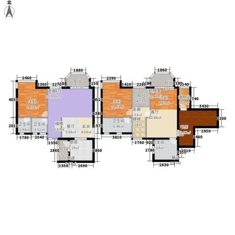 湖南报业文化城3室1厅4卫1厨215.00㎡户型图