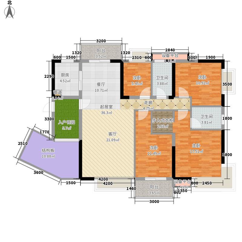 兰亭熙园135.00㎡6栋号面积13500m户型