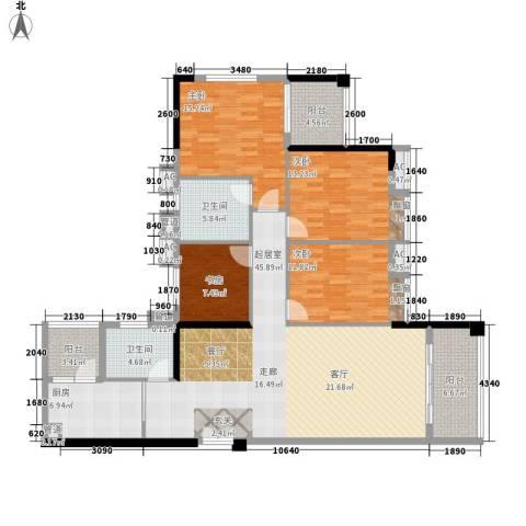 小北御景4室0厅2卫1厨145.00㎡户型图