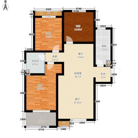 水木大兴3室0厅1卫1厨148.00㎡户型图
