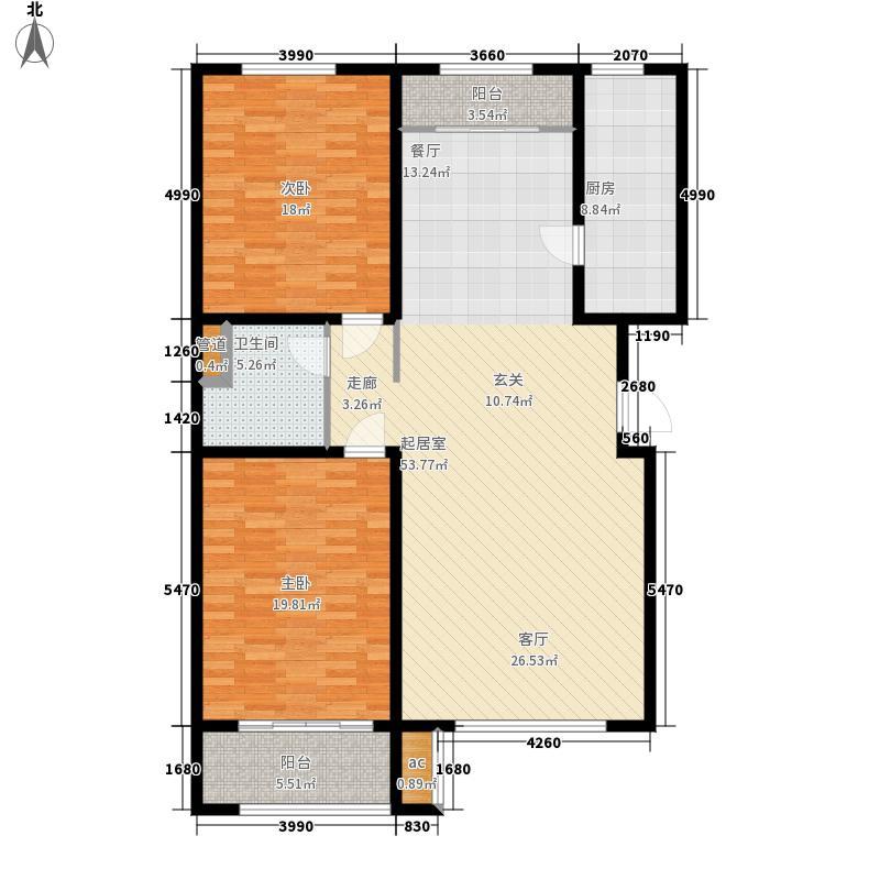 广厦聚隆广场132.00㎡B11户型2室2厅