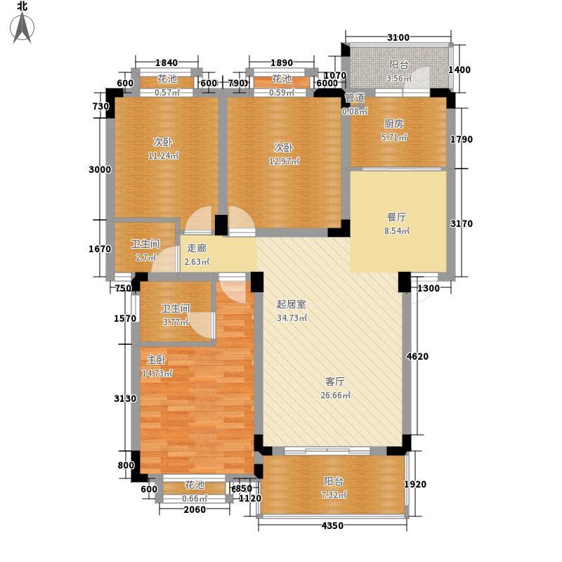 金海岸天府花园水城113.12㎡一期3号楼G型户型