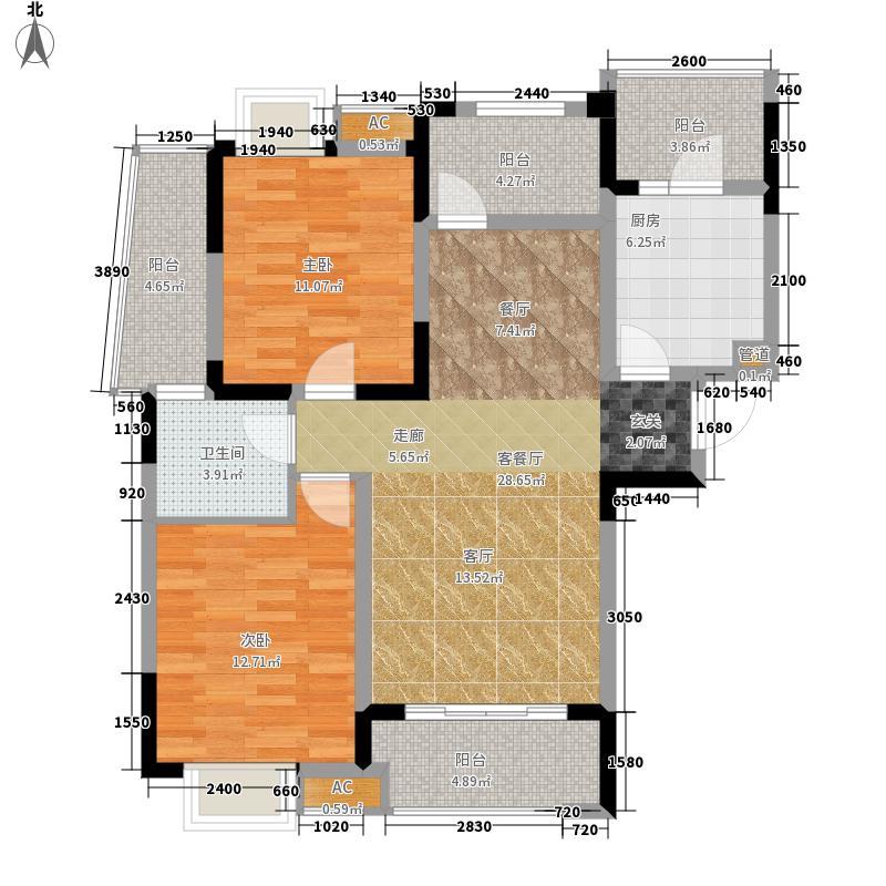 """绿地圣路易名邸98.00㎡""""七里""""面积9800m户型"""
