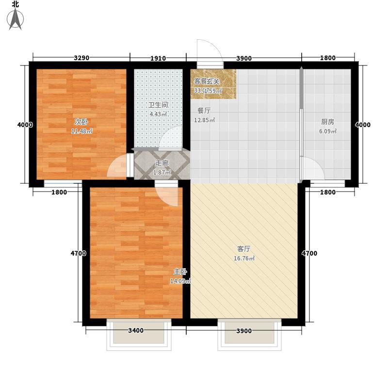 毓秀国际公馆98.93㎡2室2厅1卫