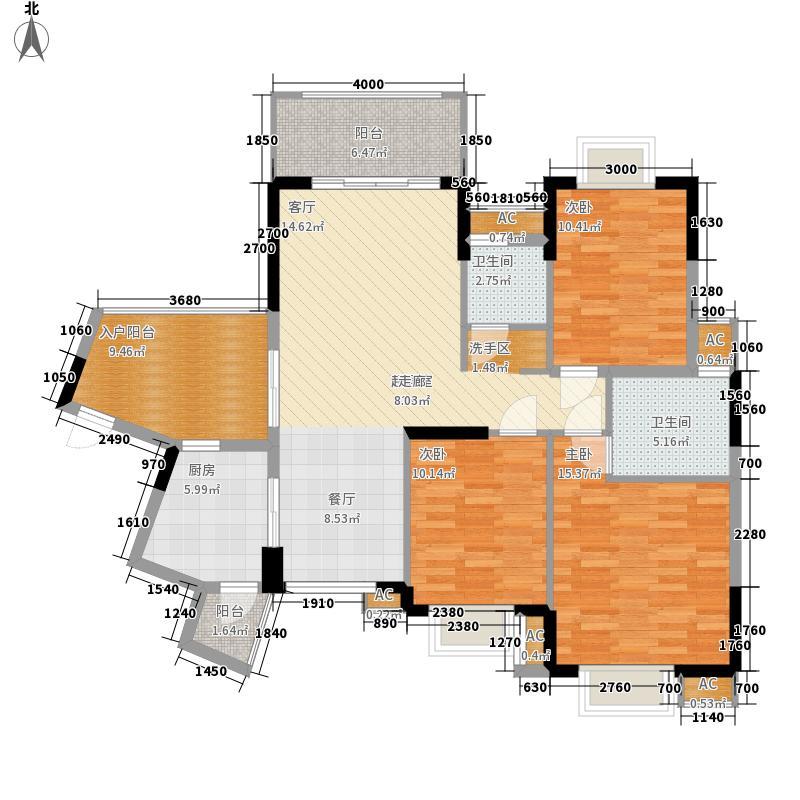 龙光阳光海岸122.00㎡龙光・阳光海岸山海湖观邸D6/D7栋4B户型