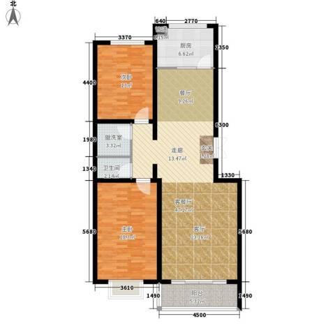 世源佳境2室1厅1卫1厨135.00㎡户型图
