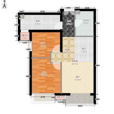 瑶绮园2室0厅1卫1厨81.00㎡户型图