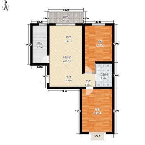 鼎原时代2室0厅1卫1厨102.00㎡户型图