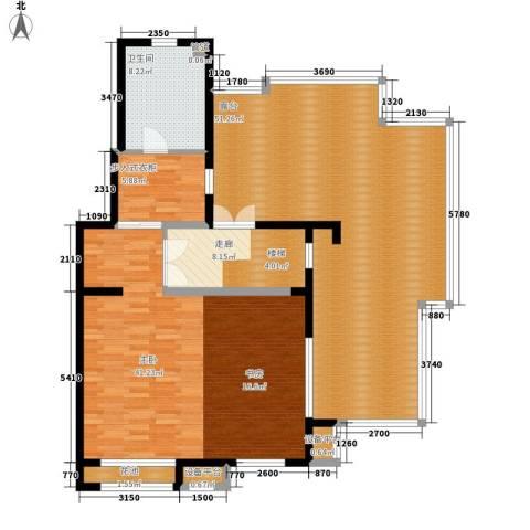 东方花城1室0厅1卫0厨165.00㎡户型图