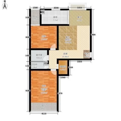 世源佳境2室1厅1卫1厨128.00㎡户型图