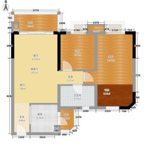 宏康东筑2室1厅1卫1厨80.00㎡户型图