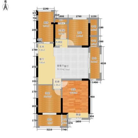 恒威国际城3室1厅1卫1厨108.00㎡户型图