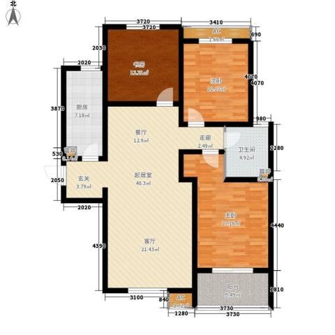 水木大兴3室0厅1卫1厨146.00㎡户型图
