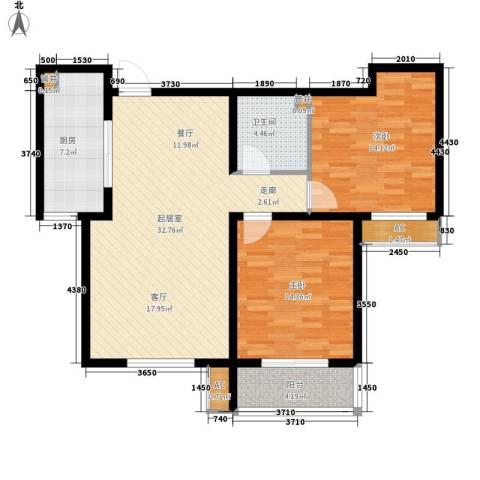 水木大兴2室0厅1卫1厨114.00㎡户型图