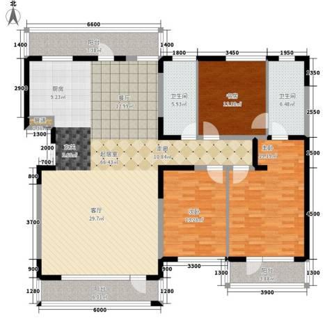 瑶绮园3室0厅2卫0厨141.10㎡户型图