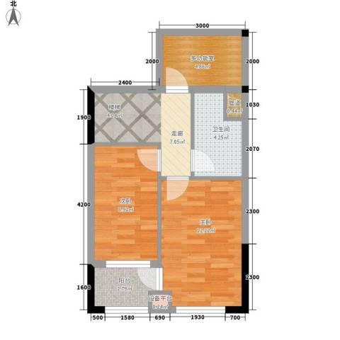 兰亭熙园2室0厅1卫0厨50.00㎡户型图