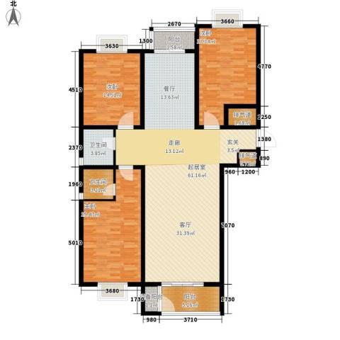 大马庄园3室0厅2卫0厨148.00㎡户型图