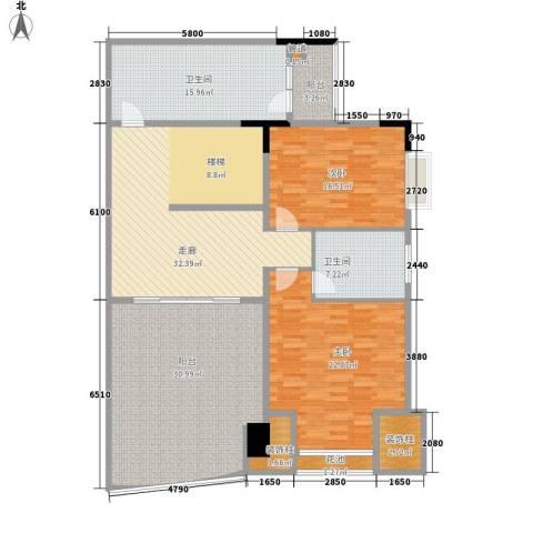华南御景园2室0厅2卫0厨150.00㎡户型图
