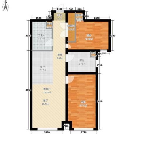 中阳信和水岸2室1厅1卫1厨101.00㎡户型图
